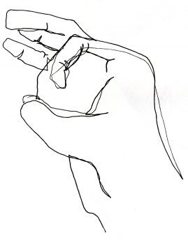 blind contour sketch