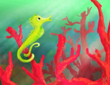 CupoDoodle-Seahorse