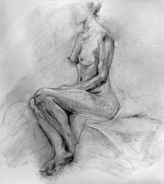 Figure gesture 1 - finished sketch