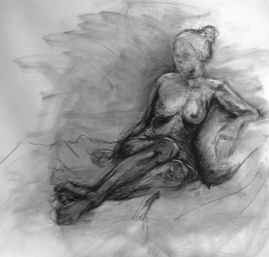 Figure gesture 3 – finished sketch