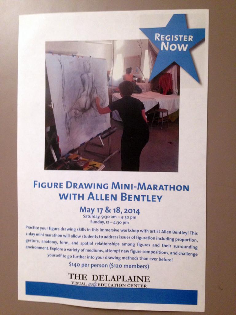 Figure Drawing Marathon flyer