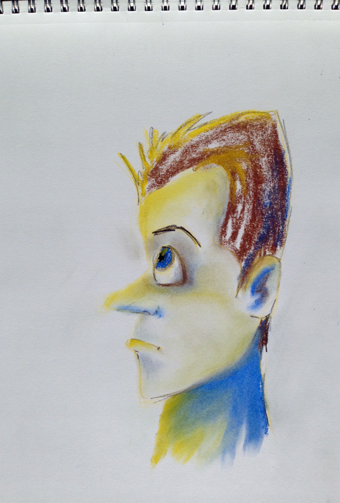 Quick pastel sketch of a guy