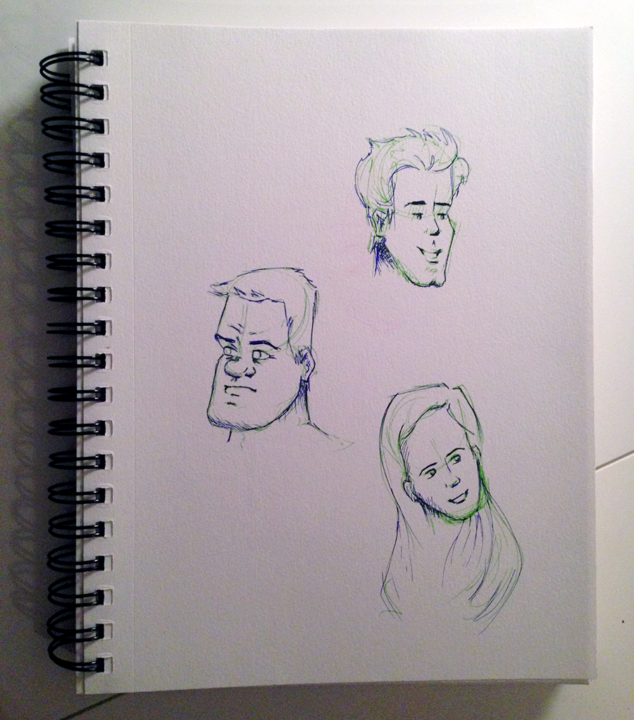 facial sketches