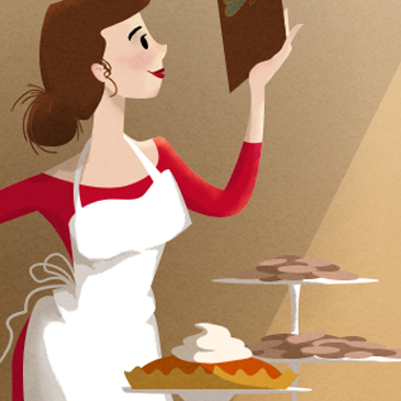 Blissfully baking illustration thumbnail