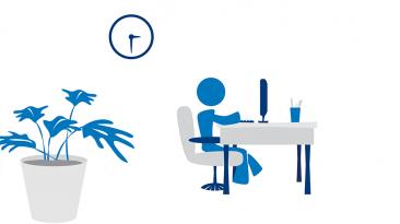 job seeker office environment concept art