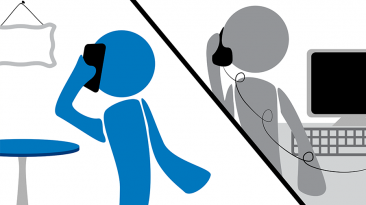 phone interview staging concept art