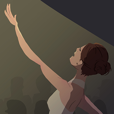 Blog post summary image - Cup O' Doodle - Ballerina on stage illustration