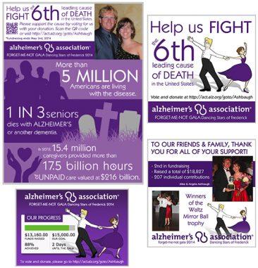 Fundraising campaign materials