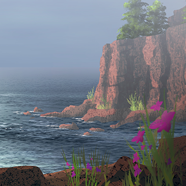 blog post Summary image - Foggy Rocky Maine Coast illustration